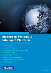 Advantech. Embedded System Intelligent Platforms Product Catalog 2012-13